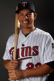 Fort Myers, FL - February 27: Minnesota Twins Photo Day - Ben Revere Photographic Print by Elsa .