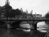 The Ludwigsbruecke in Munich, before 1945 Photographic Print by  Scherl