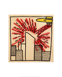 Spaceship with Ray, 1980 Giclee Print by Keith Haring