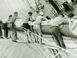Sailors in the Rigging of a Schooner, 1930 Photographic Print by Scherl
