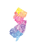 Typographic New Jersey Spring Premium Giclee Print by  CAPow