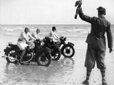 Women Racing Motorcycle Race, 1930 Photographic Print by Scherl