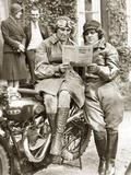 Women at a Motorcycle Rally, 1932 Photographic Print by Scherl