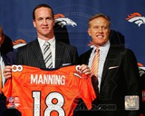 Peyton Manning & John Elway 2012 Press Conference Photo