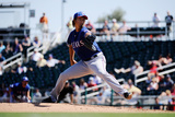 Goodyear, AZ - March 13: Texas Rangers v Cleveland Indians - Yu Darvish Photographie par Kevork Djansezian