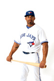 Dunedin, FL - March 02: Toronto Blue Jays Photo Day - Edwin Encarnacion Photographic Print by Jonathan Ferrey