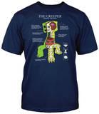 Minecraft - Creeper Anatomy (slim fit) T-skjorte