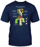 Minecraft - Creeper Anatomy (slim fit) Camisetas