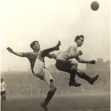 Moment from an English Soccer Match, 1909 Photographic Print by  Scherl