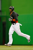 Miami, FL - March 06: University of Miami v Miami Marlins - Hanley Ramirez Photographic Print by Mike Ehrmann