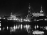 Dresden by Night, 1934 Photographic Print by  Scherl
