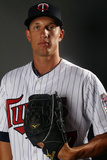 Fort Myers, FL - February 27: Minnesota Twins Photo Day - Joe Mauer Photographic Print by Elsa .