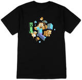 Minecraft - Run Away! Camisetas