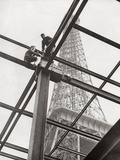 Construction Work at the Eiffel Tower for the World Exhibition, 1937 Photographic Print by  Scherl