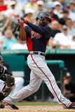 Jupiter, FL - March 13: Atlanta Braves v Miami Marlins - Dan Uggla Photographic Print by Sarah Glenn