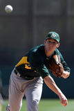 Glendale, AZ - March 08: Oakland Athletics v Los Angeles Dodgers - Chris Capuano Photographic Print by Christian Petersen
