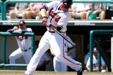 Lake Buena Vista, FL - February 29: Atlanta Braves Photo Day - Michael Bourn Photographic Print by Matthew Stockman