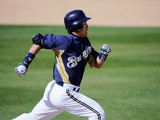 Phoenix, AZ - March 09: Cleveland Indians v Milwaukee Brewers - Norichika Aoki Photographic Print by Kevork Djansezian
