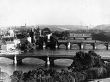 The Panoramic View of Prague, 1942 Photographic Print by  Scherl