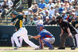 Phoenix, AZ - March 20: Chicago Cubs v Oakland Athletics - Josh Donaldson Photographic Print by Christian Petersen