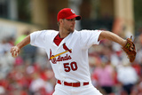 Jupiter, FL - March 18: Miami Marlins v St Louis Cardinals - Adam Wainwright Photographic Print by Sarah Glenn