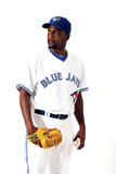 Dunedin, FL - March 02: Toronto Blue Jays Photo Day - Casey Janssen Photographic Print by Jonathan Ferrey