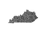 Typographic Kentucky Premium Giclee Print by  CAPow