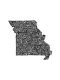 Typographic Missouri Premium Giclee Print by  CAPow