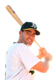 Phoenix, AZ - February 27: Oakland Athletics Photo Day - Seth Smith Photographic Print by Christian Petersen