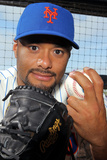 Port St. Lucie, FL - March 02: New York Mets Photo Day - Johan Santana Photographic Print by Marc Serota