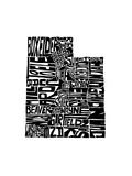 Typographic Utah Premium Giclee Print by  CAPow