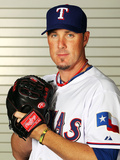 Surprise, AZ - February 28: Texas Rangers Photo Day - Joe Nathan Photographic Print by Jamie Squire