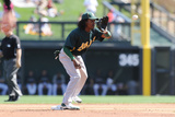 Scottsdale, AZ - March 09: Oakland Athletics v Colorado Rockies - Brandon Allen, Wilin Rosario Photographic Print by Norm Hall