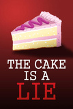The Cake is a Lie Portal Video Game Poster Print Print