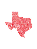 Typographic Texas Red Premium Giclee Print by  CAPow