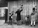 Girls Playing Ball, 1932 Photographic Print by  Scherl
