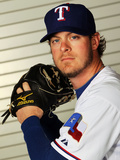 Surprise, AZ - February 28: Texas Rangers Photo Day - Mark Lowe Photographic Print by Jamie Squire