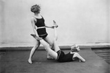 Two Women Doing Gymnastics, 1926 Photographic Print by  Scherl