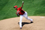 Goodyear, AZ - March 14: San Diego Padres v Cincinnati Reds - Aroldis Chapman Photographic Print by Kevork Djansezian
