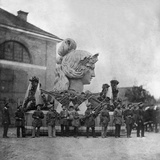 Assembly of the Bavaria Statue Photographic Print by  Scherl