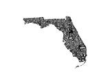 Typographic Florida Premium Giclee Print by  CAPow