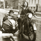 Wilhelm Bendow in a Sidecar, 1930 Photographic Print by  Scherl