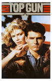 Top Gun Movie Tom Cruise and Kelly McGillis 80s Poster Print Stampa master
