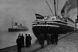 Passenger Ship at the Columbus Quay in Bremerhaven, 1935 Photographic Print by  Scherl