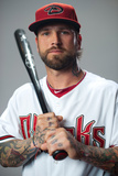 Scottsdale, AZ - March 1: Arizona Diamondbacks Photo Day - Jason Kubel Photographic Print by Rob Tringali