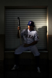 Surprise, AZ - February 28: Texas Rangers Photo Day - Ian Kinsler Photographic Print by Jamie Squire