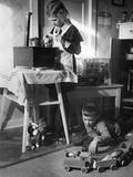 In the Children's Bedroom, 1935 Photographic Print by  Scherl