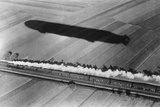 Race Between an Express Train and an Airship, 1911 Photographic Print by Scherl