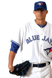 Dunedin, FL - March 02: Toronto Blue Jays Photo Day - Adeiny Hechavarria Photographic Print by Jonathan Ferrey