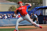 Dunedin, Fl - March 6: Philadelphia Phillies v Toronto Blue Jays - Jimmy Rollins Photographic Print by Al Messerschmidt